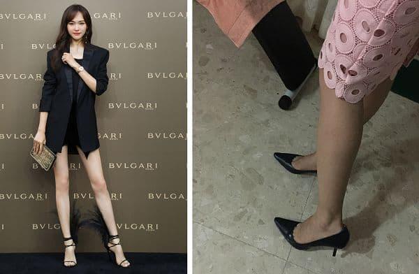 女友穿上尖头高跟鞋,露出修长美腿,如果穿上薄薄的肉丝丝袜就更棒了!