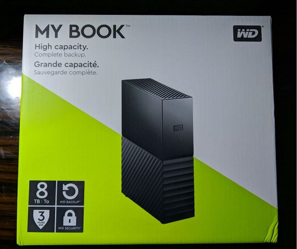 WD 8TB My Book外包装
