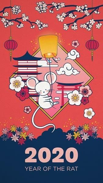 庚子年 2020年 鼠年 春节快乐