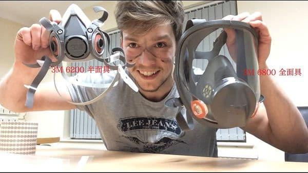 3M 6200半面具面罩对比3M 6800全面具面罩