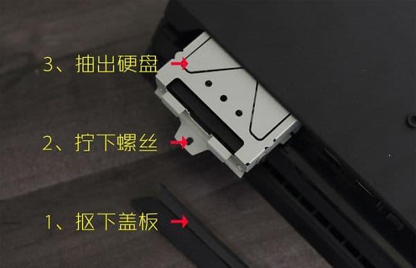 更换PS4硬盘的操作步骤