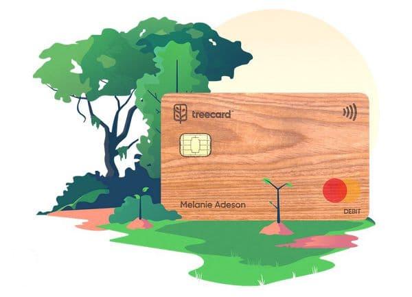 木质 TreeCard 免费万事达借记卡