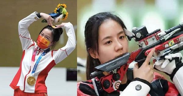 奥运会杨倩与王璐瑶的照片